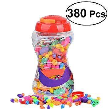 ae2302bd97c2 Rosenice - Juego de 380 piezas de perlas para niños