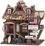 Gifts & Decor Wood Wagon Wheel Restaurant Wooden Bird House