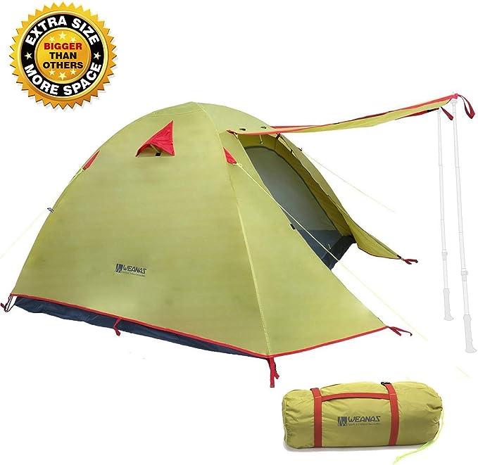 Weanas Professional Waterproof Backpacking 2-4 Person 3 Season Tent