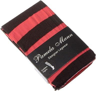50 Denier Stripy Colourful Tights Pamela Mann Twickers Stripe Footless Tights