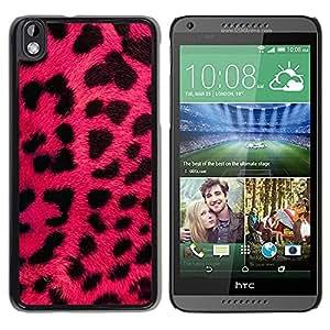 Be Good Phone Accessory // Dura Cáscara cubierta Protectora Caso Carcasa Funda de Protección para HTC DESIRE 816 // Pink Leopard Fur Pink Black Animal Pattern