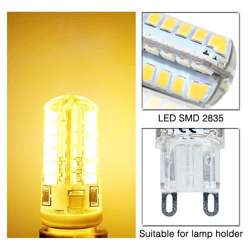 ELINKUME G9 LED Lámpara 4W Blanco cálido, G9 Bombilla LED no regulable, Reemplazo para 40W G9 Bombillas halógenas, 320Lumen 3000K, AC 200-240V, ...