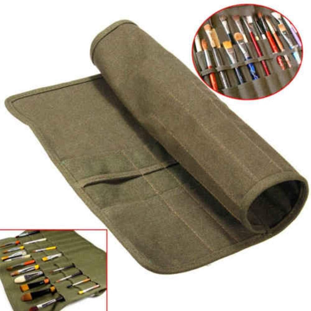 MZY1188 22 Loch K/ünstler /Ölgem/älde Pinsel Tasche Roll Up Leinwand Farbe Pinsel Tasche Draw Pen Aquarell /Öl Pinsel F/älle Art Supply