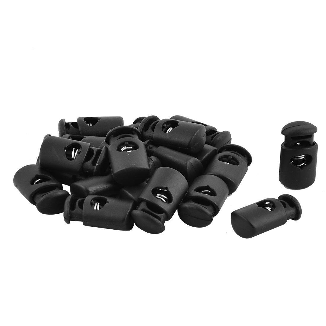 uxcell Plastic Adjustable Clothes Coat Drawstring Cord Lock Toggle Stopper Fastener 20pcs a16122200ux0044