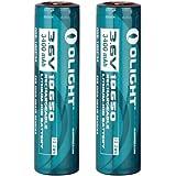 2 Pack Olight 3400mah Protected Rechargeable Li-ion Batteries -Model18650 - Designed for M22 M21x M20s S20 M18 Sr51 Tm26 Tm15 Tm11 P12 Srt7 Srt6 P25 Ec25 Tk75 Pd35 Pd32 Tk22