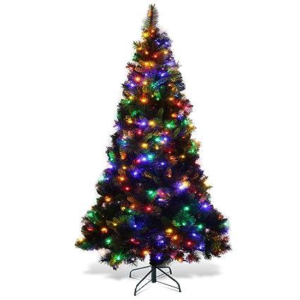 7Ft Pre-Lit Christmas Tree W/Stand Holiday Season LED Multicolor Lights PVC  Artificial - Amazon.com: 7Ft Pre-Lit Christmas Tree W/Stand Holiday Season LED