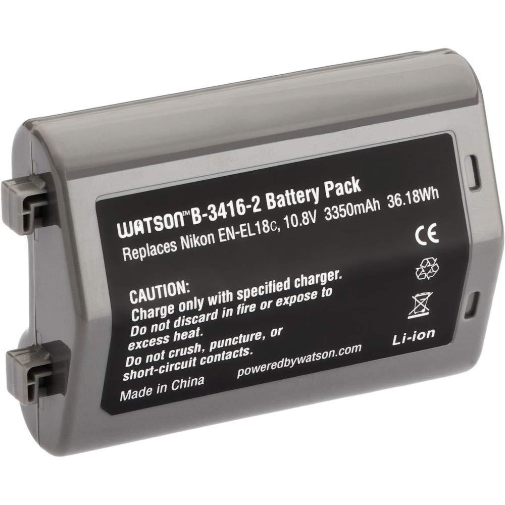 Watson EN-EL18A リチウムイオンバッテリーパック (10.8V、3350mAh) B07QCWFPMC