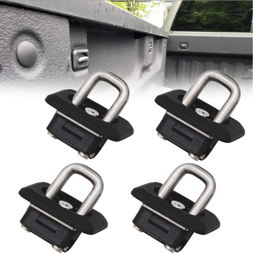 Riwful 4pcs Inner Bed Retractable Tie Down Anchors Fit for 07-20 Chevy Silverado GMC Sierra 15-20 Chevy Colorado and GMC Canyon