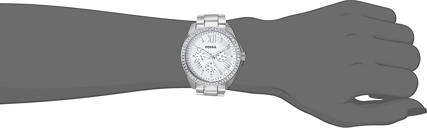 Amazon.com: Fossil Womens AM4481 Cecile Multifunction Stainless Steel Watch - Silver-Tone: Fossil: Watches