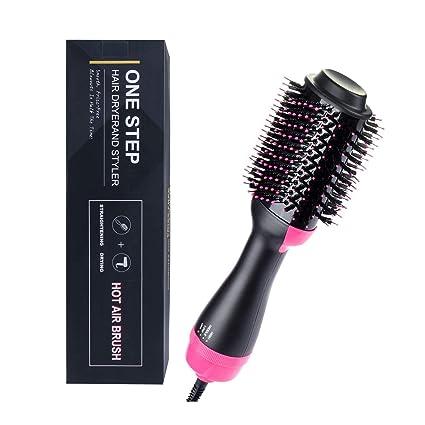 Un secador de cabello Step Styler y un cepillo de aire caliente,multifuncional alisador de