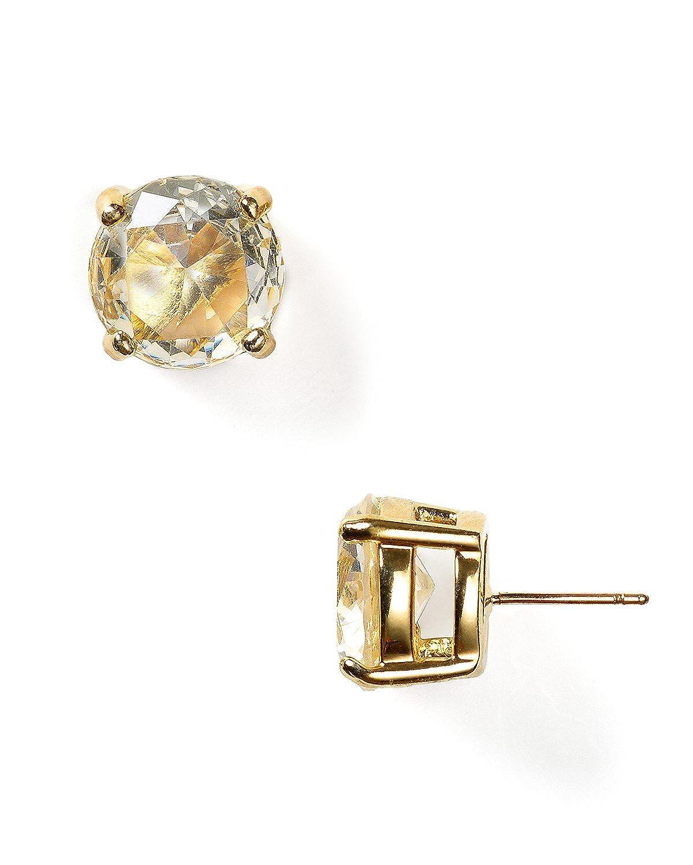 Kate Spade New York Crystal Stud Earring (Clear)