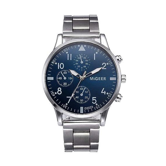 OPAKY Relojes para Hombres Moda Hombre Cristal Acero ...