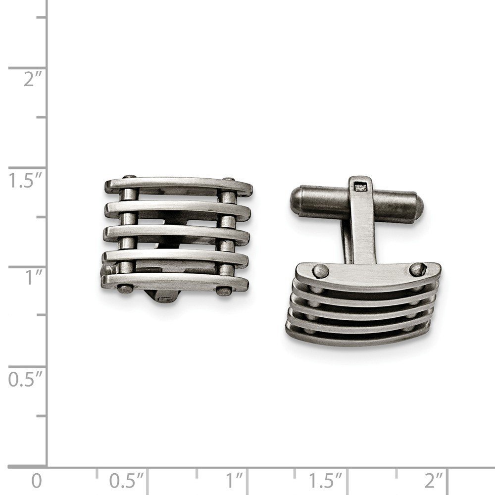 19mm x 13mm Stainless Steel Cuff Links