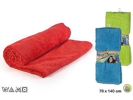 Aktive Juego de 3 toallas lisas en Microfibra de 75 x 120 cm.