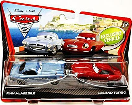 Disney / Pixar CARS 2 Movie 155 Die Cast Car 2Pack Finn McMissile & Leland Turbo