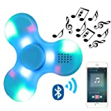 Kivors Speaker Fidget Spinner, Children's Day Gift Wireless Bluetooth Speakers Music Fidget Spinner Toy Reducer EDC Hand Spinner For ADHD, Anxiety, Autism Kids Adult Toy Gifts, Blue