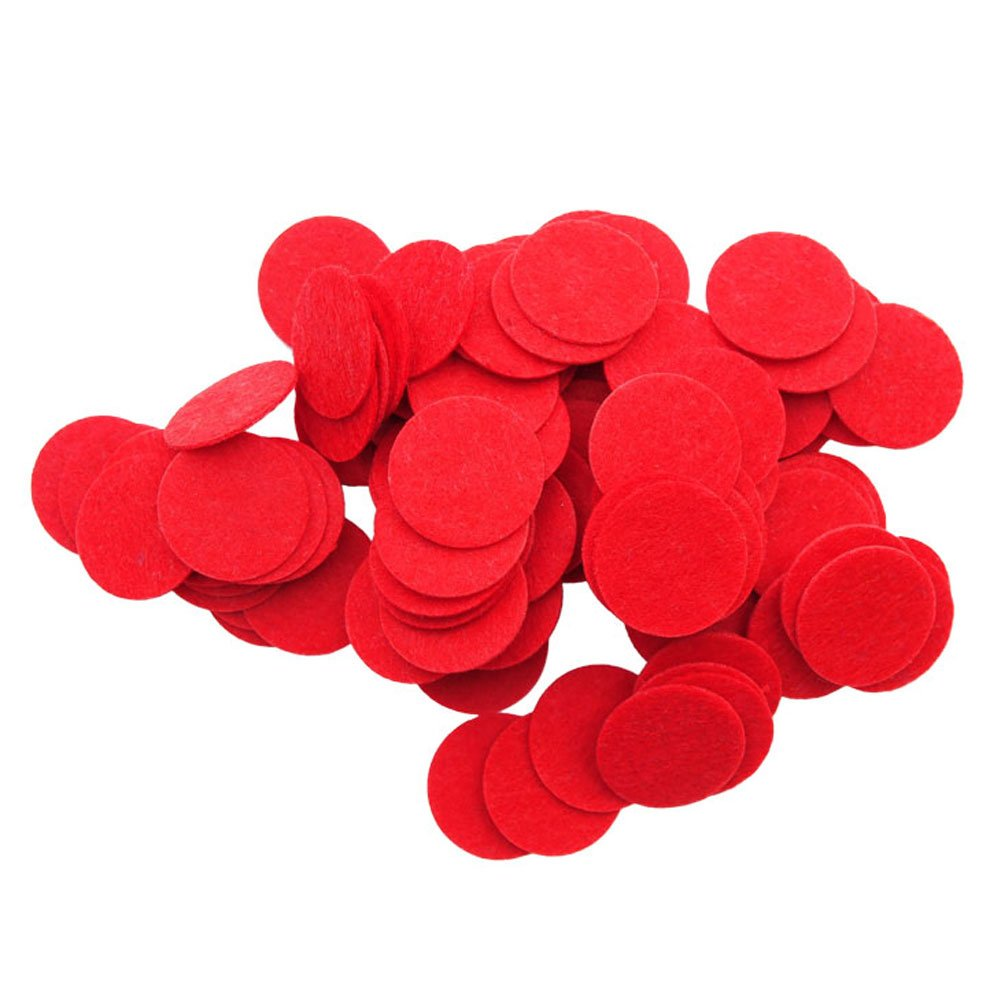 Playfully Ever After 1 Inch Red 100pc Stiff Felt Circles