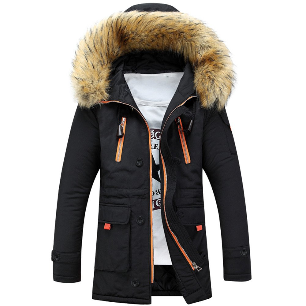 Amazon.com: Auwer Unisex Plus Size Coats Outdoor Practical Wear Faux Fur Wool Parka Coat Resistance Casual Jacket: Clothing