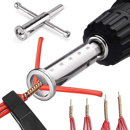 fil /électrique de torsion Accessoires outils perceuse pilotes Pince /à d/énuder Outil argent Outil /à freiner
