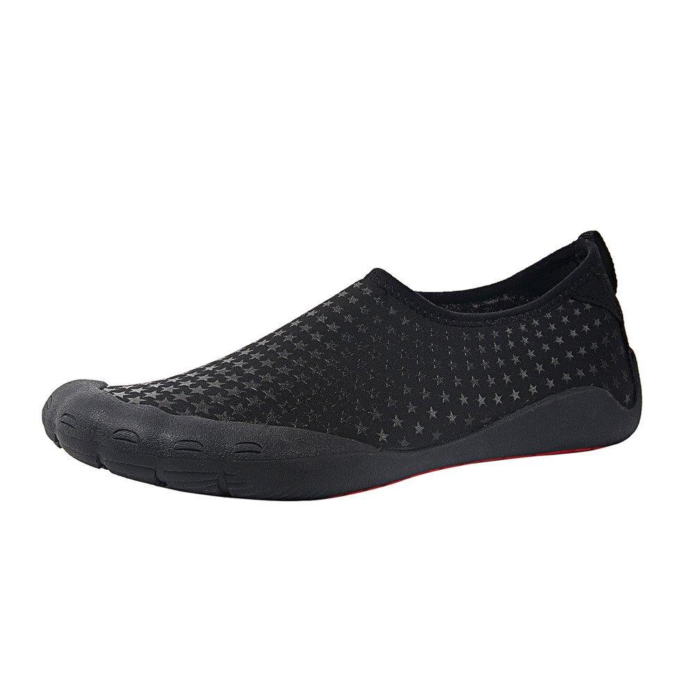 Water Shoes Mens Womens Beach Swim Shoes Shoes Quick-Dry Aqua Socks Pool Shoes Shoes for Surf Yoga Water Aerobics B0796T4S53 11 D(M) US|Fivefingers-black Star 58d392