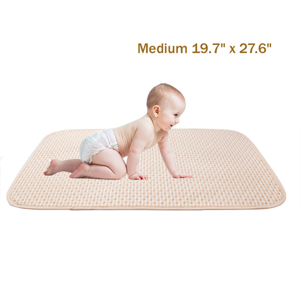 Toddler Waterproof Pads Bed Mattress Protector Organic Cotton Ultra Reusable Incontinence Sheet for Baby Children Adult Pets (Medium)