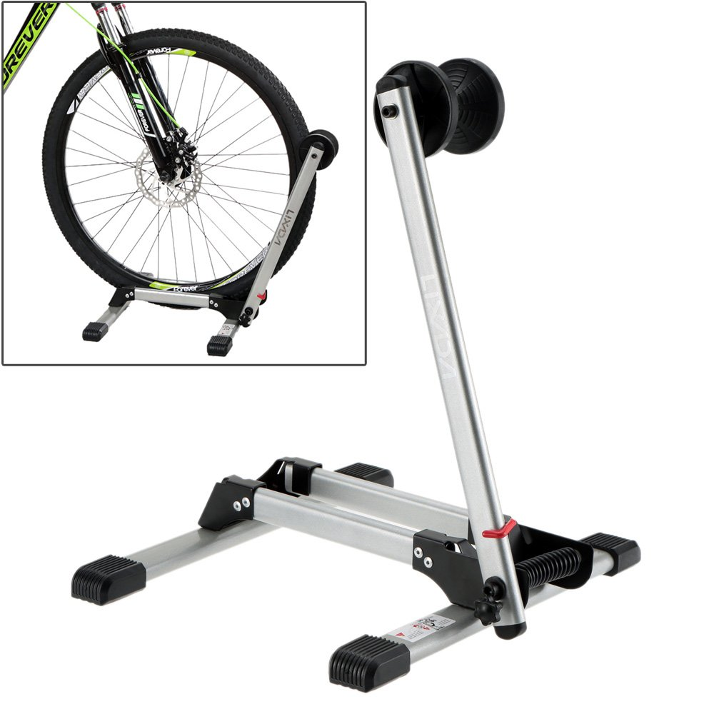 1Pc Bicycle Floor Parking Rack Storage Stand Holder L-Type Single Bicycle Display Stands Cycling Parking Folding Stand