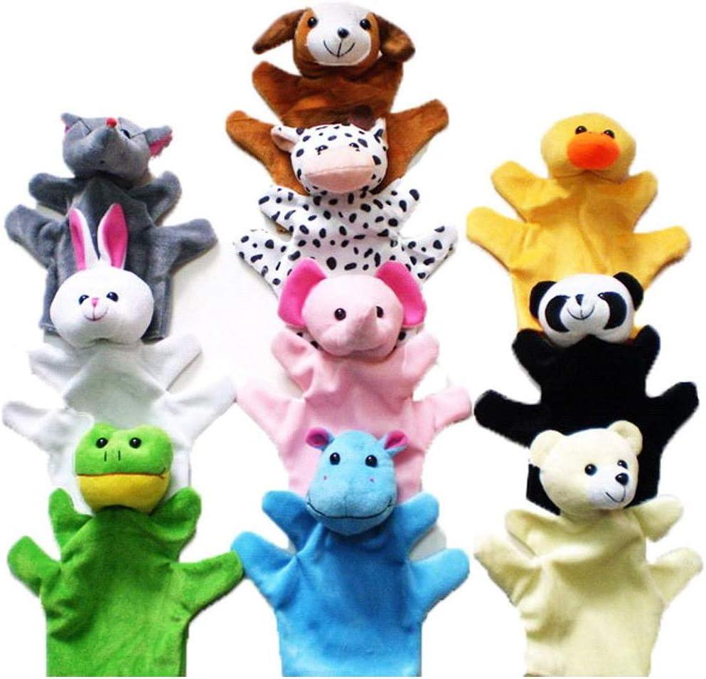 YCX Marioneta del Dedo de la Mano marioneta Conjunto de Dedo marioneta marioneta, Marionetas de Dedo Figuras Animales muñecas Animales Guante,Natural