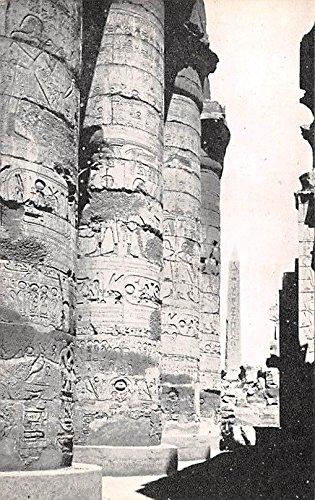 Pillar Obelisk - The Hypostyle Hall showing the Centre of the Pillar and the Obelisk of Queen Hatshepset Karnak Egypt, Egypte, Africa Postcard