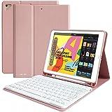 Funda con teclado para iPad 10.2 8.a generación - Funda para iPad con teclado inalámbrico iPad 10.2 pulgadas 8.a generación -