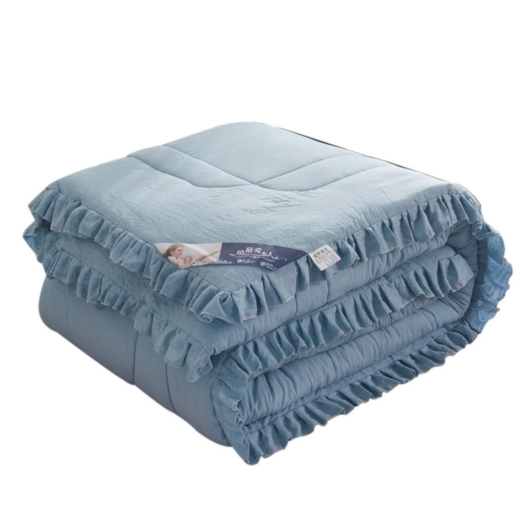 ウォッシュコットンウインドキルト、ソリッドカラーシックキルト、吸湿通気性暖かく快適なキルト Mesurn JP (色 : 青, サイズ さいず : 200 * 230cm(4KG)) B07HL5X3Y1 青 200*230cm(4KG)