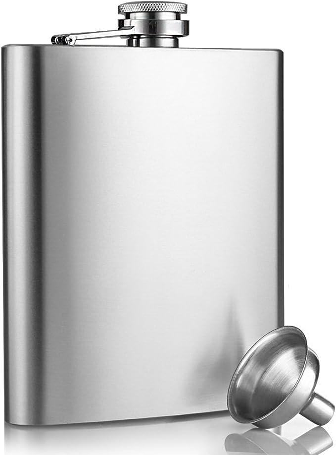 Fiaschetta acciaio escursione viaggio 8oz//227ml argento innislink Fiaschetta in acciaio inox Fiaschetta per whisky