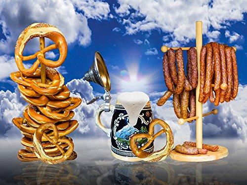 Home Comforts Laminated Poster Beer Mug Pretzel Beer Eat Foam Oktoberfest Poster Print 24 x 36
