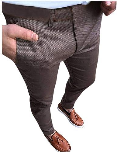 Pantalones Para Hombre Negocios Pantalones De Traje Moda Comodo Casuales Pantalones De Traje Elegante Caballero Pants Trend Largo Pantalones Diseno De Personalidad Vpass Amazon Es Ropa Y Accesorios