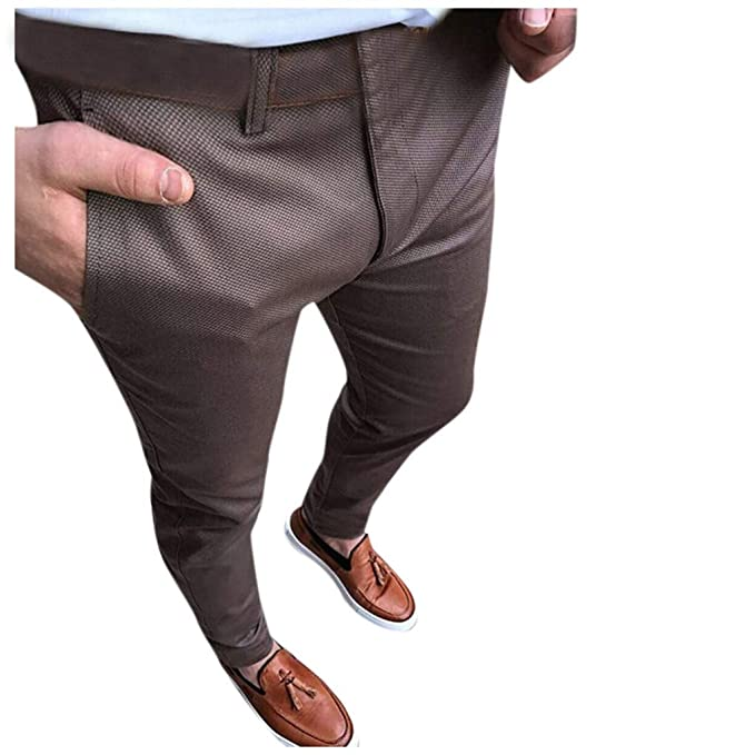Amazon.com: Pantalón para hombre Skinny Slim Fit Stretch ...