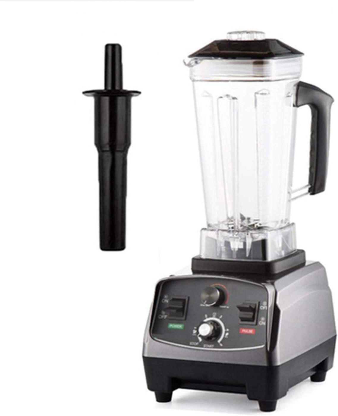 Heavy Duty Automatic Timer Blender Commercial Grade Mixer Juicer 3Hp 2200W Fruit Food Processor Ice Smoothies 2L Jar,Titanium Grey,Uk Plug