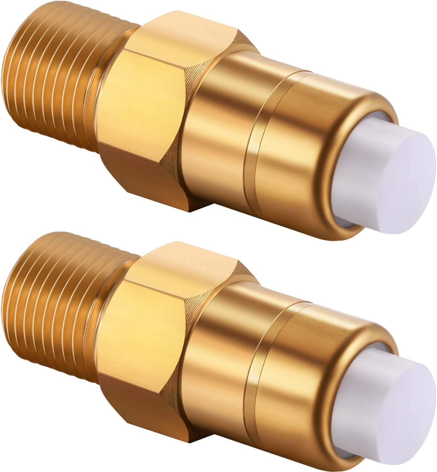 Hotop 2 Pieces 1/4 Inch Pressure Washers Replacement Thermal Release Valve, 678169004, Brass