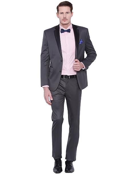 Amazon.com: kelaixiang Slim Fit hombre traje 2 piezas traje ...