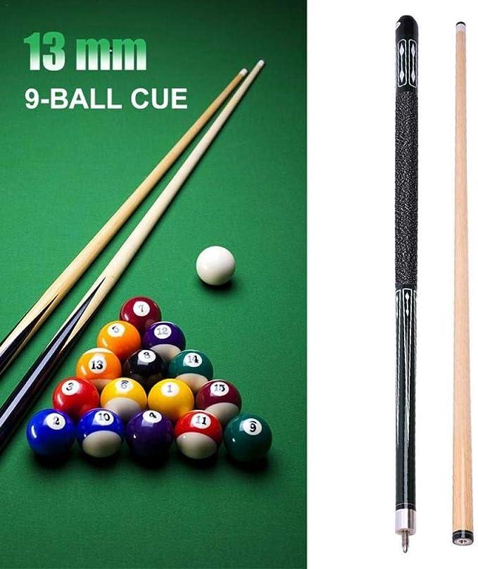 13mm Pool Cue Leather Hardwood Maple Bar de Billar Entretenimiento Accesorios de Billar Herramientas de Billar Accesorios de Billar 01: Amazon.es: Deportes y aire libre