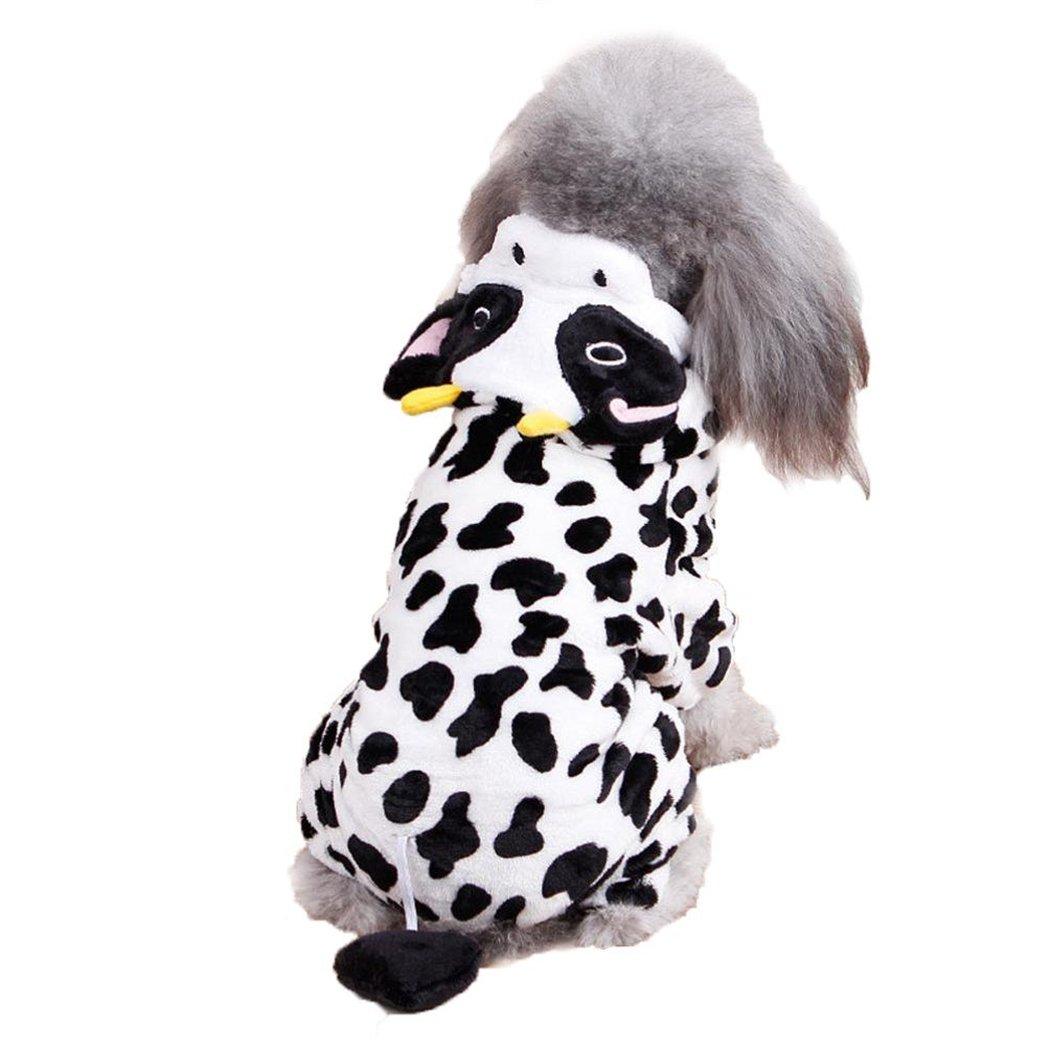 Sudadera Con Capucha Para Perro, Sudadera Con Capucha Para Perro Juego Vaca Creativa Con Traje CáLido Para Perro