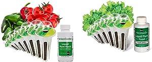 AeroGarden Salsa Garden Seed Pod Kit, 7 & Salad Greens Mix Seed Pod Kit, 6