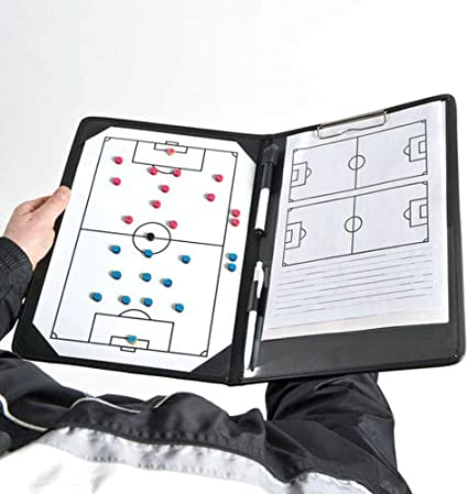 Precision Training Pro Football Soccer Coaches Tactic Folder Clipboard