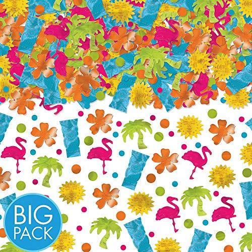 Amscan Tiki Mega Value Pack Party Confetti, 2.5 oz.