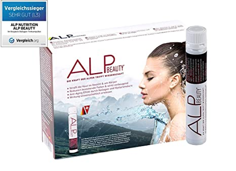 ALP BEAUTY Colageno acido hialuronico y vitaminas liquido para una piel sana y reducción de arrugas, 14x25 ml ampollas
