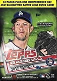 #5: 2017 Topps Series 2 Baseball Blaster Box - 10 Packs plus 1 Independence Day Batter Logo Patch Card