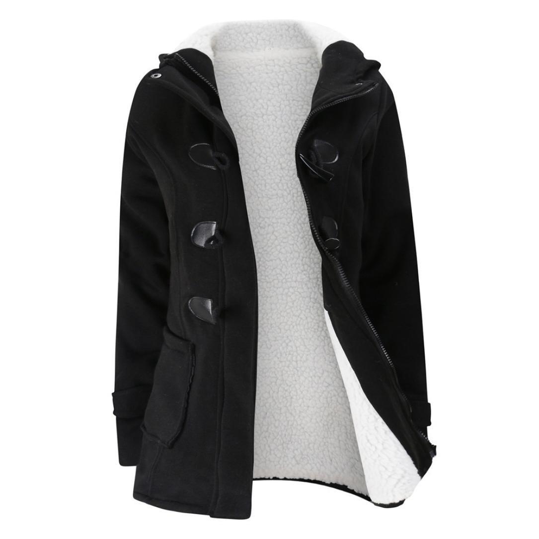 Women  Windbreaker Hooded Trench Coat Outwear Winter Hoodie Long Jacket Overcoat