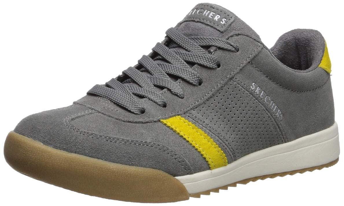 Grey Skechers Womens Zinger - Suede Retro Trainer Sneaker