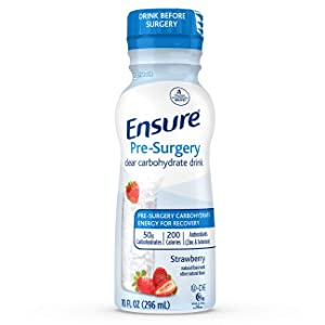 Ensure Pre-Surgery, Clear Carbohydrate Drink, Strawberry, 10 FL OZ, 4 Count