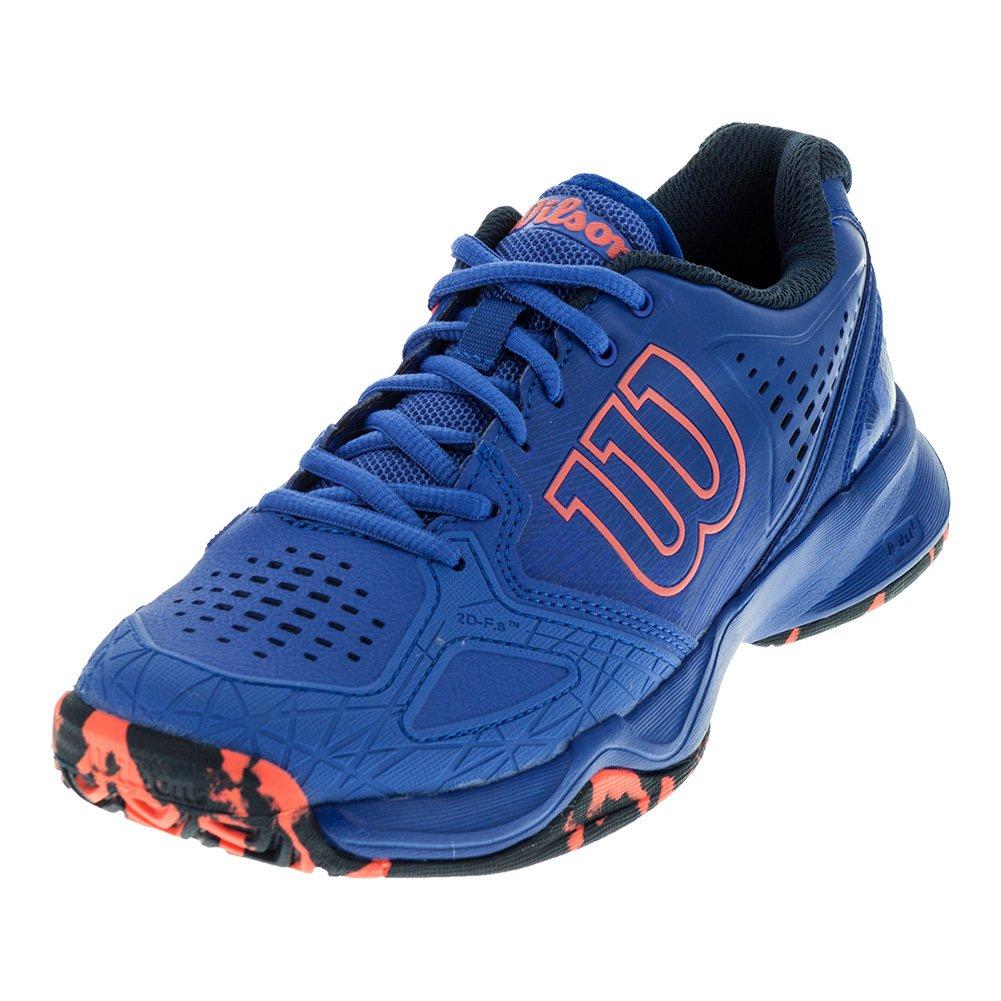 Wilson Kaos Comp Women's Tennis Shoe Purple/Navy/Neon B01K5INBU2 6 B(M) US|Amparo Blue/Surf the Web/Fiery Coal