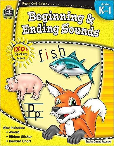 Amazon.com: Beginning & Ending Sounds Grades K-1 (Ready*Set*Learn ...