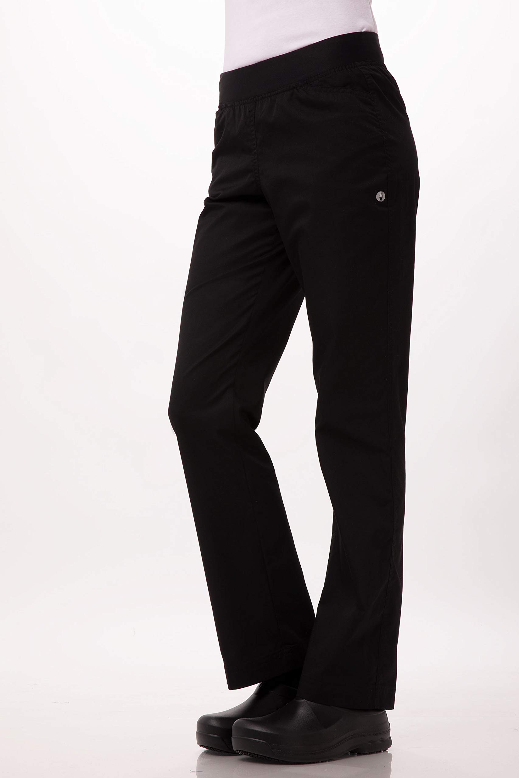 Chef Works Women's Lightweight Slim Chef Pants, Black, XL by Chef Works